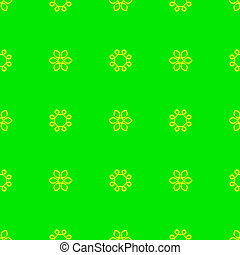 Geometric pattern on the neon green background