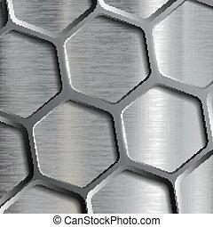 geometric pattern. Stock illustration. - Metallic geometric...