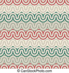 Geometric pattern with abstract waves
