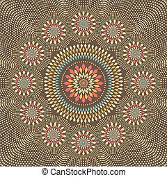 Geometric pattern with circles and dots