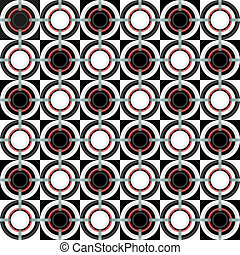 Geometric pattern with circles - Dimensional pattern with...