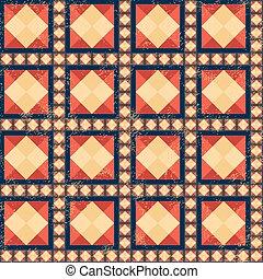 Geometric pattern with grunge effect