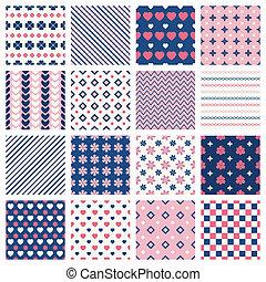 Geometric patterns - Set of geometric seamless patterns and...