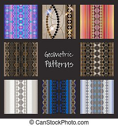 Geometric patterns set.