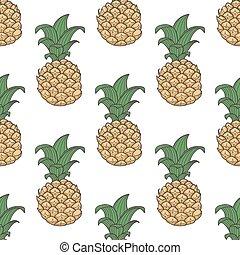 Geometric pineapple seamless pattern