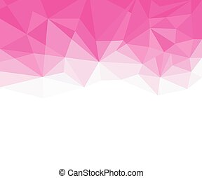 Geometric pink and White Abstract Vector Background for Use in Design.