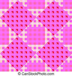 geometric pink seamless pattern
