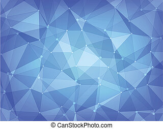geometric polygon abstract background of blue