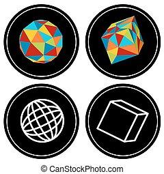 Geometric Polygon Icon Set