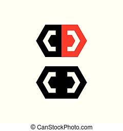 geometric polygonal abstract logo vector