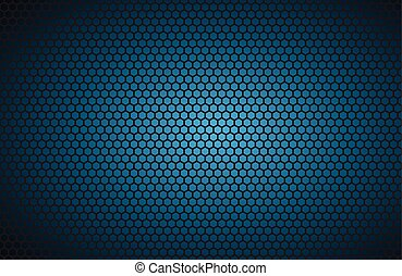 Geometric Polygons Background Abstract Blue Metallic Wallpaper Vector Illustration