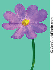 Geometric purple Cosmos flower