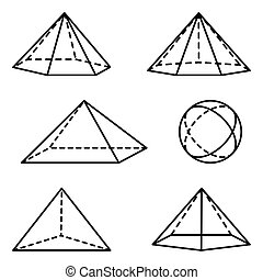 Geometric pyramidal forms - Illustration pyramidal...