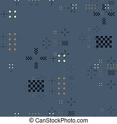 Geometric random seamless pattern