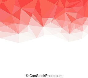 Geometric red and White Abstract Vector Background for Use in Design.