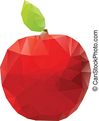 Geometric Red Apple