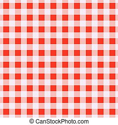 Geometric red cells seamless pattern