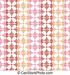 Geometric red ikat stripes seamless pattern background