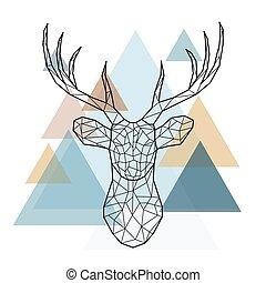 Geometric deer head.