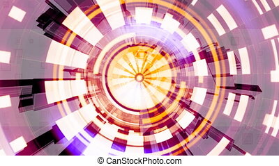 Geometric Science Fiction Looping Animated Background