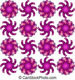geometric seamless flowers pattern