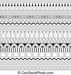 geometric seamless pattern. Coloring for adult anti-stress