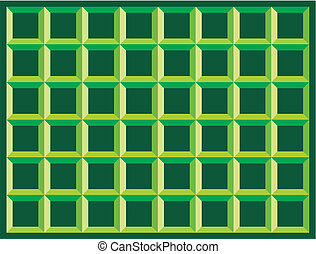 geometric seamless pattern - green