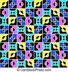 geometric seamless pattern in bright colors