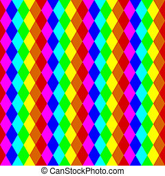 Geometric seamless pattern in rainbow colors