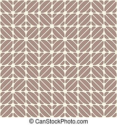 Geometric seamless pattern, looks like coffee beans. Coffee motifs simple pattern. Cocoa and vanilla color print. Repeating mocha texture