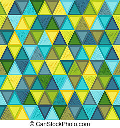 Geometric Seamless Pattern of Triangular Elements with Realistic Pencil Drawn Strokes.