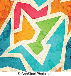 geometric seamless pattern with grunge effect