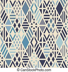 Geometric seamless pattern with rhombuses. - Geometric...