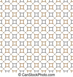 Geometric seamless pattern with round shapes