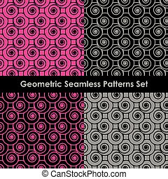 Geometric seamless patterns. EPS 8