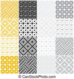 geometric seamless patterns: squares and stripes
