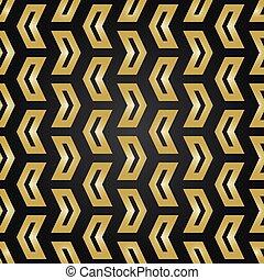 Geometric Seamless Vector Golden Pattern