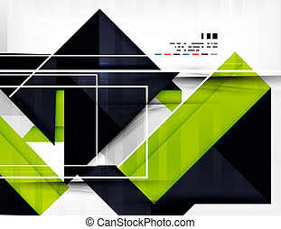 Geometric shape abstract business template - Futuristic...
