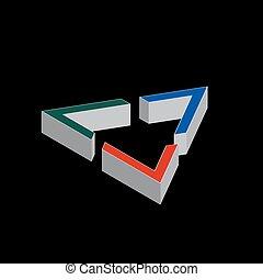 Geometric shape company logo design