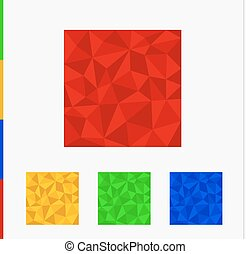 Geometric shape from triangles. Set of squares