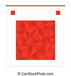 Geometric shape from triangles. Square - vector illustration.