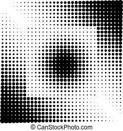 Geometric Shape Halftone Vector Illustration