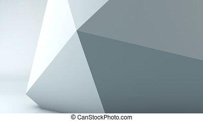 Geometric shape triangle motion background. Computer...