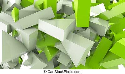Geometric shape triangle motion background
