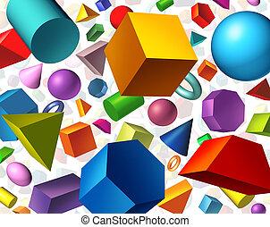 Geometric Shapes - Geometric shapes background and geometry...