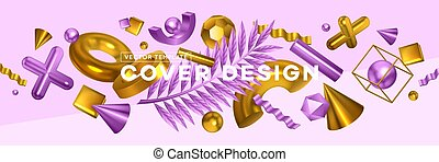 Geometric Shapes Horizontal Banner