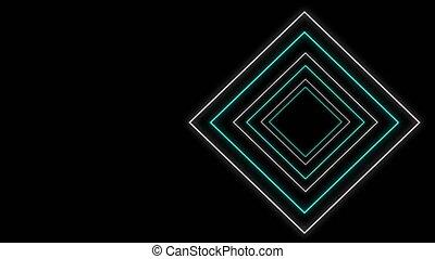 Geometric shapes on black background - Cool 80s style retro ...
