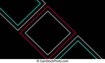Geometric shapes on black background