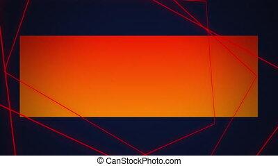 Geometric shapes on dark blue background