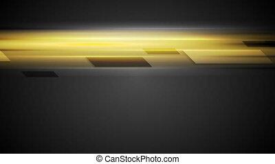 Geometric shapes on glowing yellow background